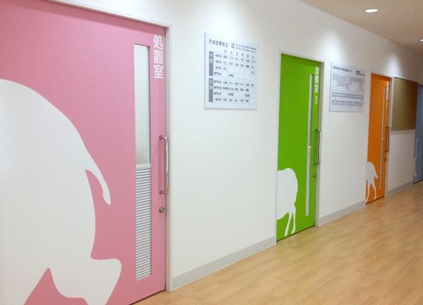 大阪の子ども病院の内装